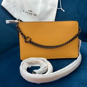 COACH Refined Calf Leather Chain Crossbody